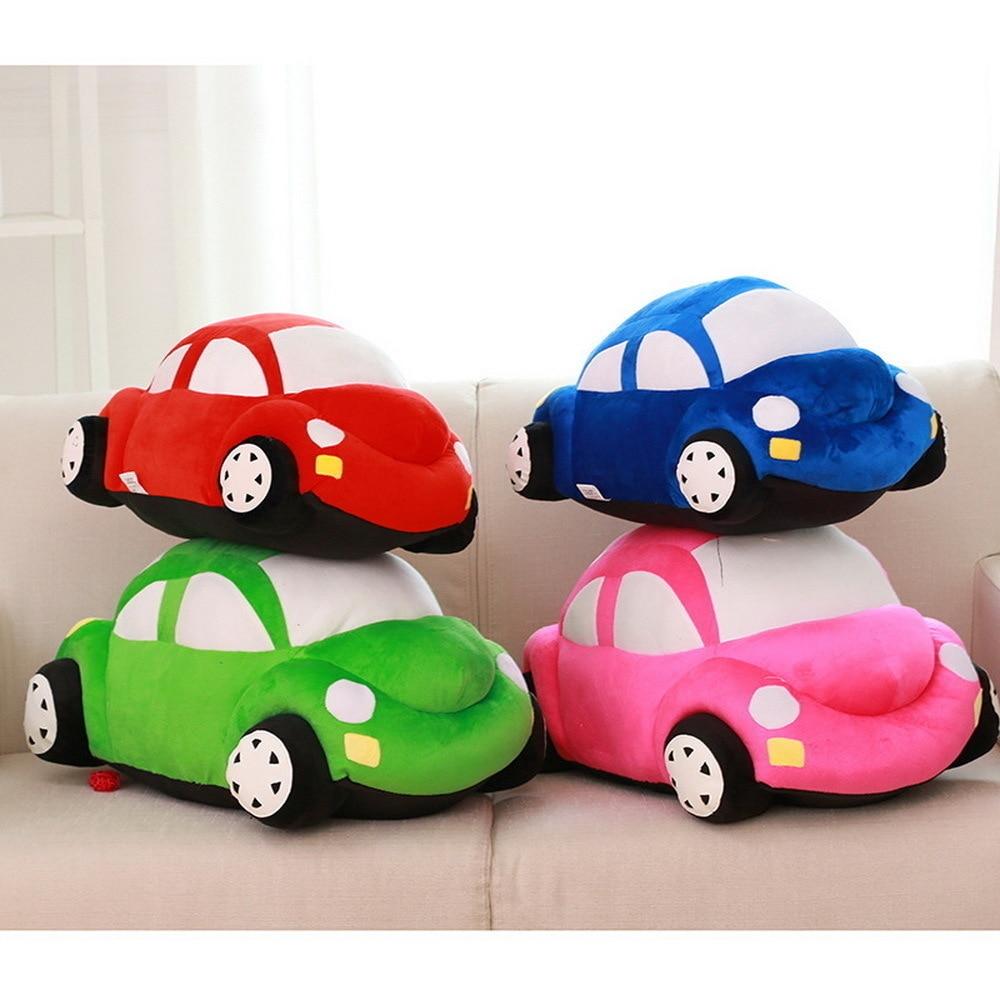 45 cm Leuke Auto Model Pluche Speelgoed Poppen Gevulde Kids Verjaardagscadeautjes Groen/Rood/Roze/Blauw