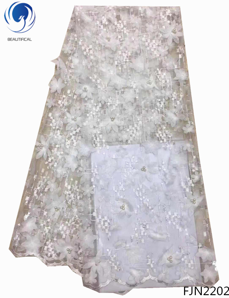BEAUTIFICAL lace fabrics african tulle lace fabrics with beads 3d lace fabrics dress for wedding 5yards/lot FJN22BEAUTIFICAL lace fabrics african tulle lace fabrics with beads 3d lace fabrics dress for wedding 5yards/lot FJN22