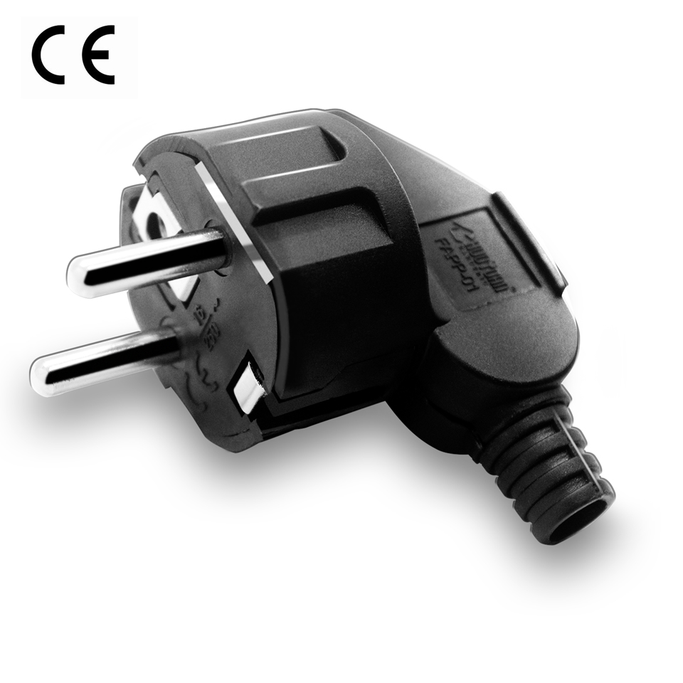 EU European AC Electrical Power Schuko CEE 7/7 Rewireable Plug Male Sockets Outlets Adaptor Adapter Extension Cord Connector