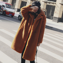 Зимняя плюшевый мишка пальто толстая куртка из искусственного меха женская овечья шерсть теплая уличная карманы для дам 2018 Мода искусственный мех пальто