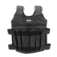 Max Loading 50kg Adjustable Weighted Vest Exercise Boxing Training Weight Jacket Fitness Waistcoat Weightloading Sand Clothing