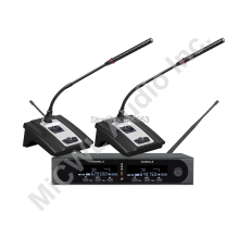 MiCWL Pro SKM9000 2x100 Channel Conference Wireless Microphone System for Meeting Room Gooseneck Mics