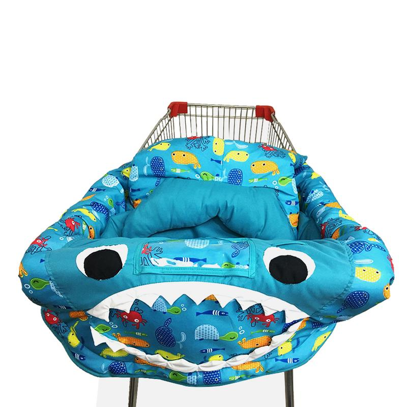 3-in-1 Kids Children's Cushion Trolley Game Pad Dining Chair Cushion Case Safe Portable Pad