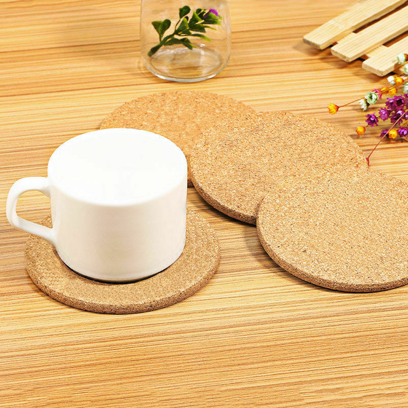 6X Cup Mat Cork Tea Coffee Drink Coasters Round Bottle Pad Tableware Protects