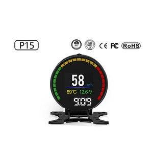 Image 2 - P15 Hd Tft Obd Digitale Snelheid Hud Display Snelheidsmeter OBD2 Turbo Boost Druk Meter Alarm Olie Water Temp Gauge Code reader