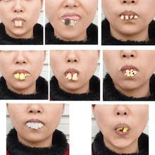 Новые шалости пугающий зуб Хэллоуин Страшные кривые зубы монстра Дети Новинка Игрушка Дети Взрослые страшные зубы розыгрыши Игрушки