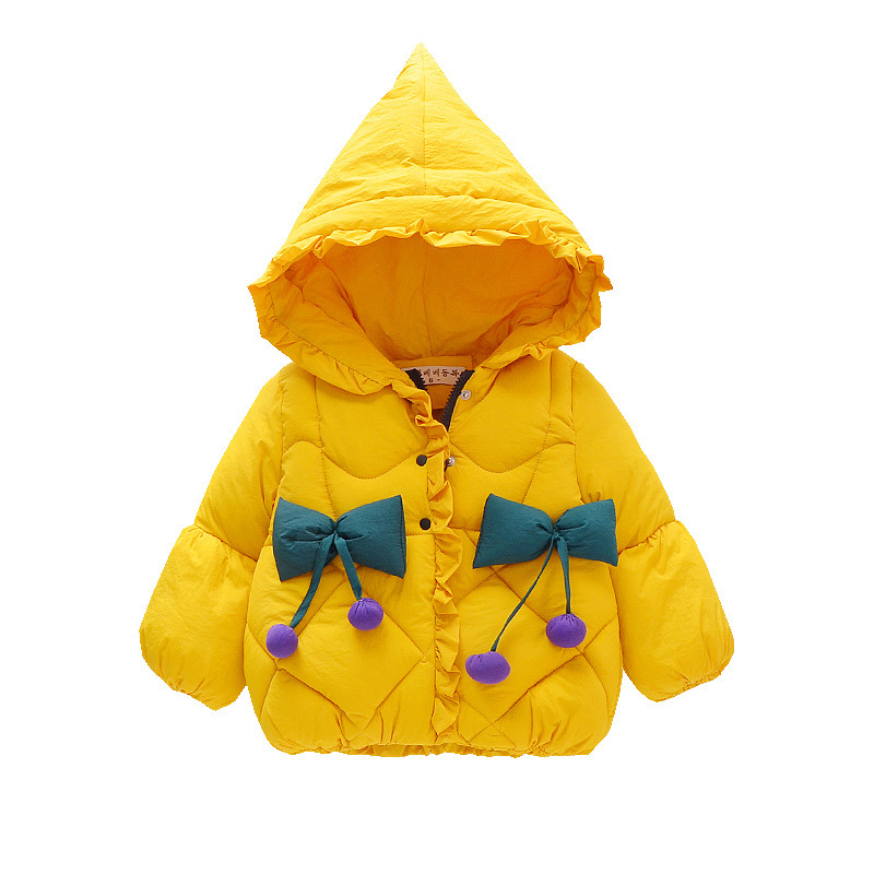 Girls Winter Jackets Boys Cartoon Style Girl Fashion Outerwear Baby Girls Clothes Hooded Jacket For Girls Cotton BowGirls Winter Jackets Boys Cartoon Style Girl Fashion Outerwear Baby Girls Clothes Hooded Jacket For Girls Cotton Bow