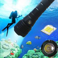 SOLLED XHP50 Diving Flashlight LED 4000 Lumens Underwater Lamp with Charging Display