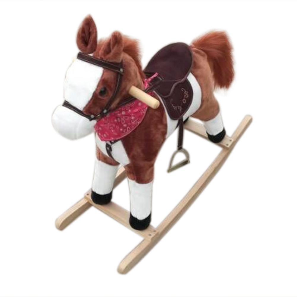Bonne vie!!! 3-8 ans jouet mécanique à bascule à cheval pour enfants musique poney jouets anniversaire enfants cadeaux pour garçon fille - 2