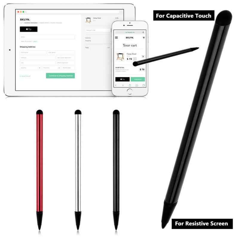 None Vertical Touch Screen Stylus Pencil 2pcs Quality Capacitive Universal Stylus Pen for iPad Samsung Moblie phone PC Tab