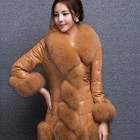 Faux Fox Fur Parkas Women Fur Coat Jacket Elegant Slim Femme Parka