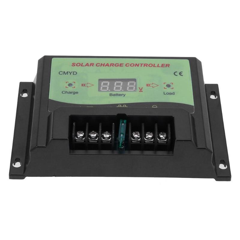 CMYD серии универсальный 24 В 12 В 20A Авто Панели солнечные Батарея Контроллер заряда ЖК-дисплей Дисплей солнечный коллектор регулятор