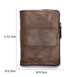 Image 4 - TAUREN 새로운 짧은 지갑 여성용 동전 지갑 남성용 동전 지갑 정품 가죽 레이디 지퍼 디자인 동전 지갑 포켓 짧은 Walet