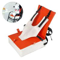 Toddler Booster Seat For Easy Up Dining Double Straps Washable Portable Thick Chair Detachable Increasing Cushion For Baby Kids