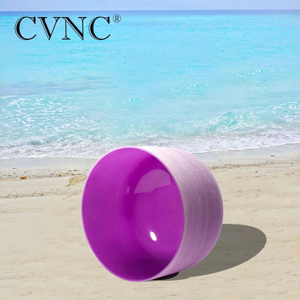 CVNC 8 Inch B Crown 440hz 432hz Purple Chakra Quartz Crystal Singing BowlCVNC 8 Inch B Crown 440hz 432hz Purple Chakra Quartz Crystal Singing Bowl