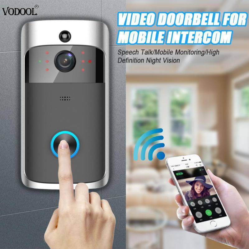 Smart WiFi Video Doorbell Door Phone 720P Camera Visual Call Intercom PIR Motion Sensor Night Vision Remote Monitoring Security