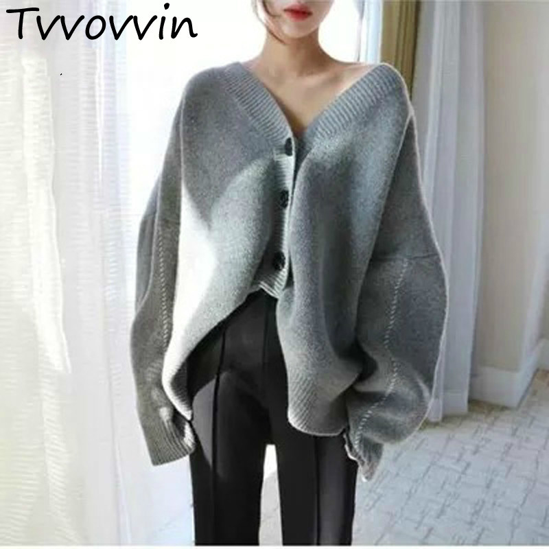 2019 Autumn Winter Korea Loose Plus Size Knitting Open Stitch Sexy Batwing Sleeve Cashmere Sweater Women Pullover Z063