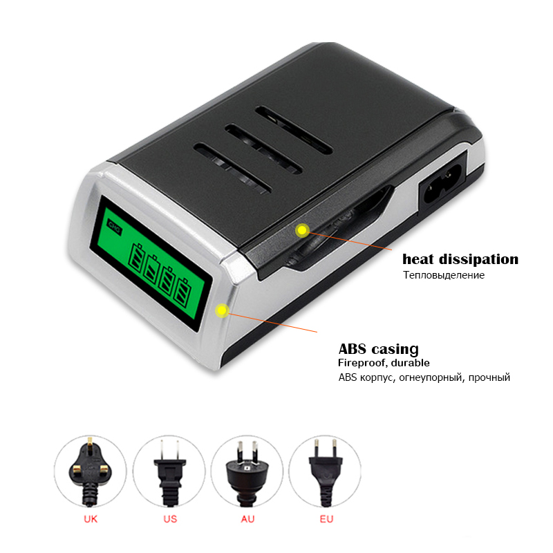 MP Promotion Charger Universal 4 Slots LCD Display Smart Intelligent Battery Charger For AA / AAA NiCD NiMH Rechargeable Battery