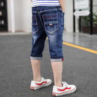 New Arrivals 4-14 Years Baby Boys Denim Jeans Trousers Elastic Waist Jean Shorts Summer Children Boy Handsome Casual Short Pants