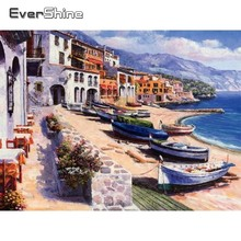EverShine Diamond Painting Full Square Scenery Embroidery Sale Seaside Landscape Picture Of Rhinestones Mosaic