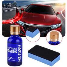 Anti-graffio Auto Auto Smalto Liquido Coat Ceramica Auto Detailing Glasscoat Moto Vernice Cura Super Idrofobo di Rivestimento di Vetro