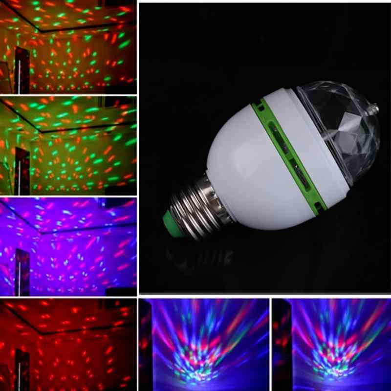 E27 3W Auto Roating RGB Led-lampe Bühne Licht Party Lampe Disco Professionelle Led-lampe Beleuchtung Lampe KTV Musik neon Lampe Licht