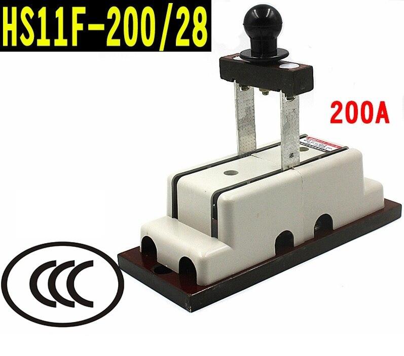 Interrupteur à couteau, DPDT, marche-arrêt, bornes à vis, 200A, 1.2 kg 22x9 cm