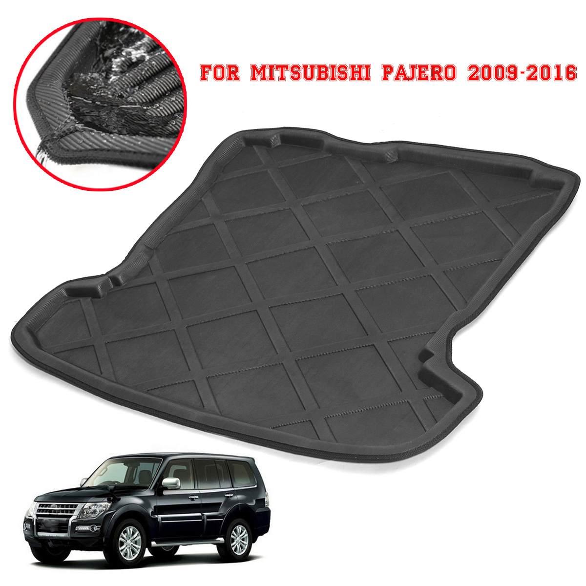 For Mitsubishi Pajero 2009-2016 Car Rear Boot Liner Trunk Cargo Mat Tray  Floor Carpet Mud Pad