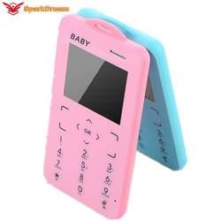 """T5 мини мобильный телефон 1,8 """"ультра тонкий карман для карт студенческий MP3 низкий уровень радиации Кнопка Поддержка TF карта маленький"""