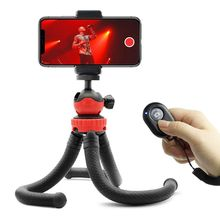 Flexible Tripod for Cameras and Cell Phones, with Smartphone Remote Shutter, Compatible with iPhone, Android Phones, DSLR