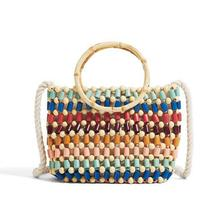 New Beach Woven Bag Color Handmade Beads Shoulder Hand