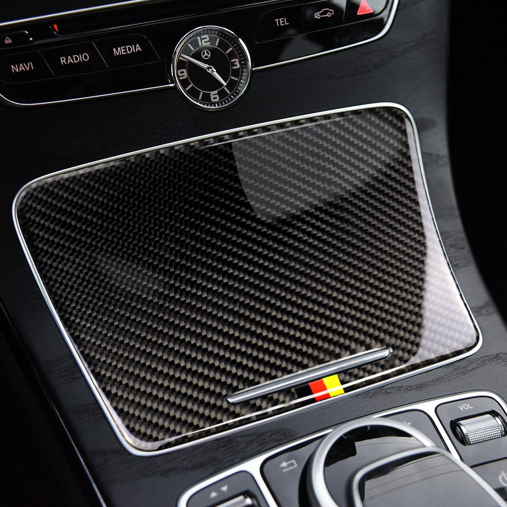 Image 5 - Для Mercedes Benz C Class W205 C180 C200 C300 GLC260 углеродного волокна автомобильный держатель стакана воды Панель крышка-in Лепнина для интерьера from Автомобили и мотоциклы