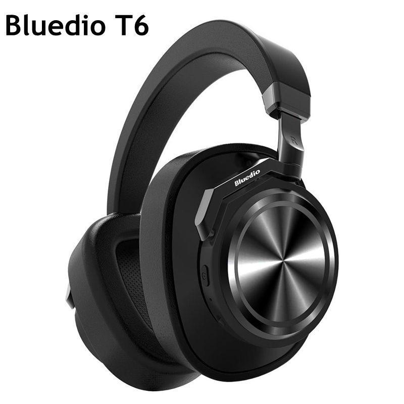 Bluedio T6 Bluetooth casque sport sans fil Subwoofer actif réduction du bruit casque avec Microphone stéréo musique casques