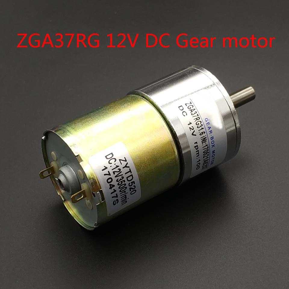 GA37RG 24VDC motor 5/10/15/20/30/50/85/120/150/200/300/500RPM ZHENGKE output speed Gear motor 37MM Central shaft High Torque image