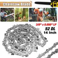 New 14 inch Garden Chain Saws Alloy Solid Carbide Chainsaw Chain 52 Link Bar 3/8 x 0.050 LP Power Tool parts