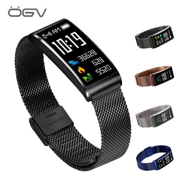 OGV X3 Smart Bracelet Waterproof mi band 3 sports watch Measure Heart Rate Monitor Wristband fitness bracelet for Android IOS