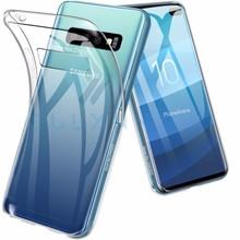 Transparent Phone Case For Samsung Galaxy S10 S10E Silm Silicone Soft Ultra thin HD TPU Plus Coque Cover capa