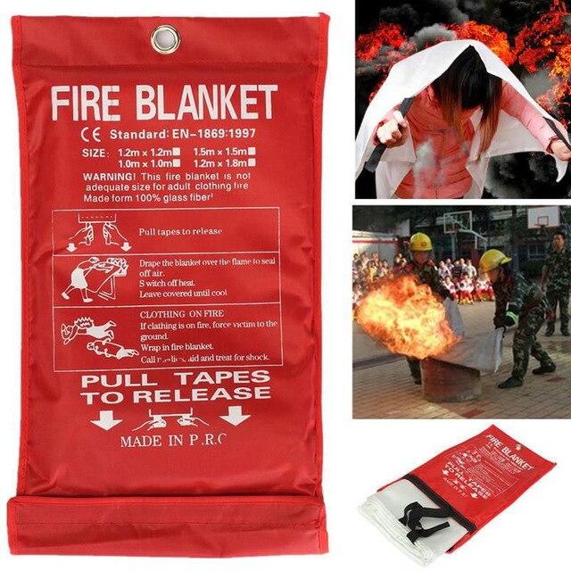 1 M 1,2 M 1,5 M Feuer Decke Fiberglas Feuer Flamme Hemmende Notfall Überleben Feuer Shelter Sicherheit Abdeckung Feuer Notfall Decke