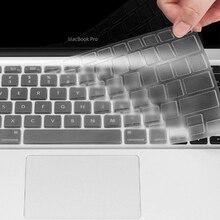5 шт. силиконовый чехол для клавиатуры Air Pro retina 13 15 17 протектор для клавиатуры Mac book Мягкий силиконовый чехол