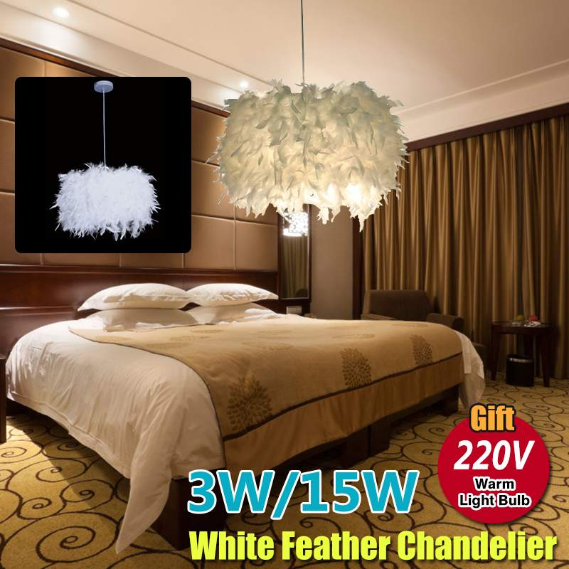 3W/15W Modern Nordic style white nature Goose feather Pendant Lights 220V LED Pendant Lamp for Living Room Bedroom Kitchen3W/15W Modern Nordic style white nature Goose feather Pendant Lights 220V LED Pendant Lamp for Living Room Bedroom Kitchen