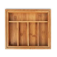 5 Grid Bamboo Expandable 7 Grid Tray Drawer Organizer Cutlery Kitchen Tableware Jewellery Tools Storage Box