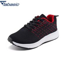 JABASIC Scarpe Bambini Knitted Dot Kids Casual Sneakers Lace Up Breathable Traveling Shoes Big Footwear Protect Feet