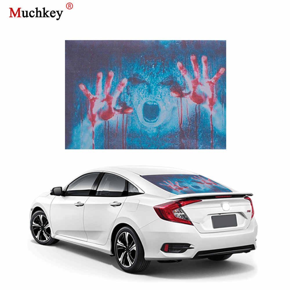 Car Sticker Transpa Back Rear Window Decal Vinyl Horror Monsters Zombie Styling 1pc For All Cars