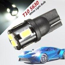 6 SMD T10 5630 DC12V White LED 194 168 175 W5W 2825 192 Car Lamp Light Bulb