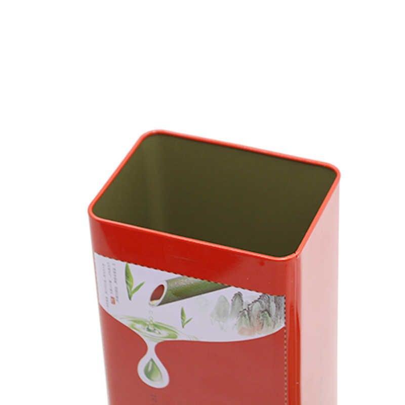 شين جيا يي التعبئة والتغليف المعادن علبة شاي من الصفائح الحديدية جديد تصميم Twinings الشاي مربع مستطيل شكل الشاي كلوب الصحن القصدير مربع الصين الصانع
