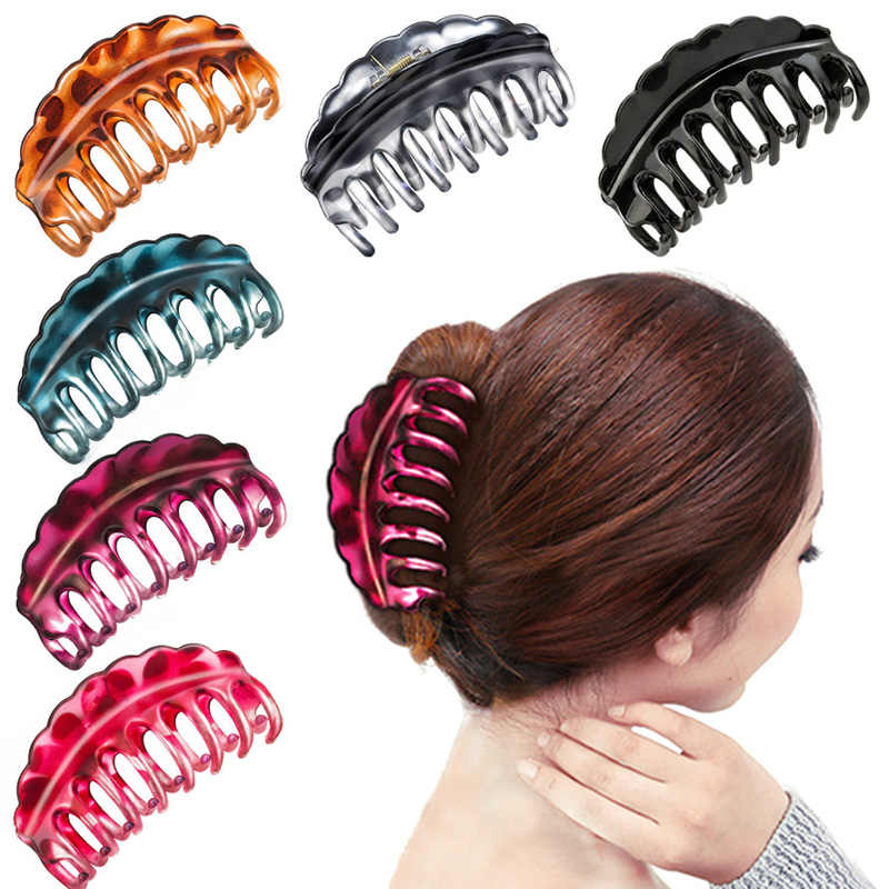 Large Plastic Hair Claws Hair Clips Girls Hairpins Crab Claws Jaw Clamp Hair Jewelry for Women Banana Grips Slid