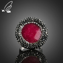 цена на S'Steel Vintage Ring Rhinestone Red Natural Stone Titanium Stainless Steel Rings For Women Wedding Jewelry  Beauty Anillos Mujer