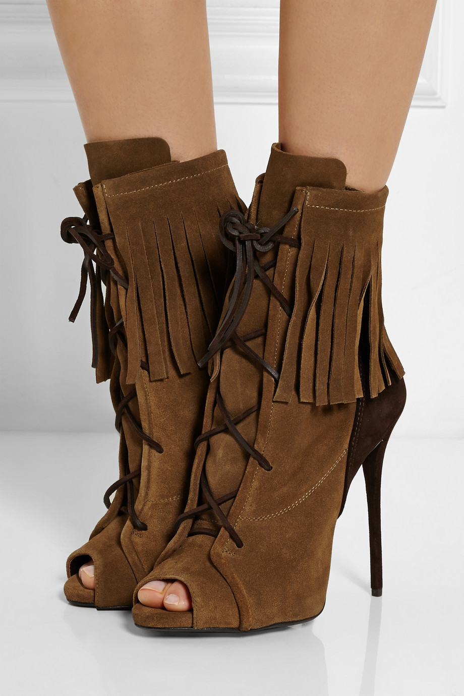New Fringe Women Boots With Thin Heels Peep Toe Shoes For Woman Lace up High Heel Size 34-42 Spring Ankle Boots SexyNew Fringe Women Boots With Thin Heels Peep Toe Shoes For Woman Lace up High Heel Size 34-42 Spring Ankle Boots Sexy