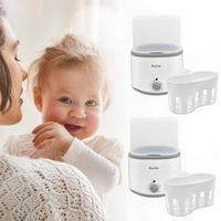 Baby Double Bottle Warmer Multifunctional Milk Food Steam Sterilizer Warm Milk Disinfection Thermostat Multi function Heater