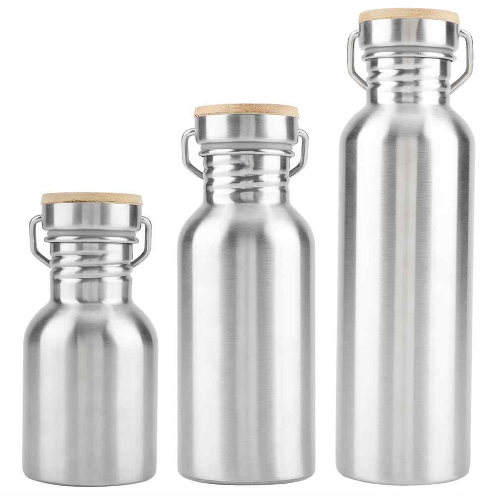 350/500/750ML Outdoor Portable Stainless Steel Water Cup Drink Bottle Concise Travel Practical Mug Water Bottels